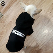 Chihuahua wearing black funny security hoodie