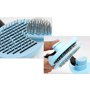 blue shedding brush for dogs