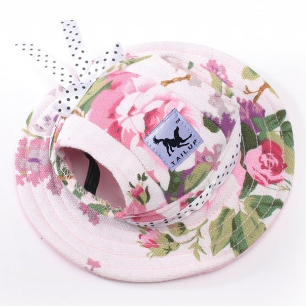 Flower summer hat for dogs