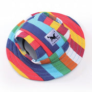 Stripe summer hat for dogs