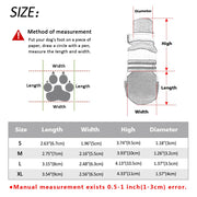 Size chart for waterproof shoes for dogs