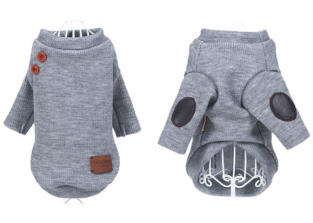 grey cute spring coat for dogs