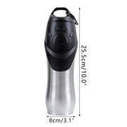 Dog water bottle with cup lid size dimensions