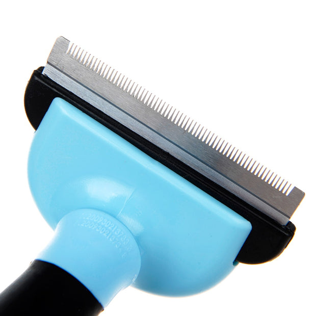 Blue fine fur comb for dogs