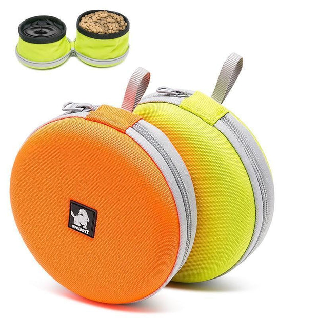 foldable food and water travel bowl for dogs
