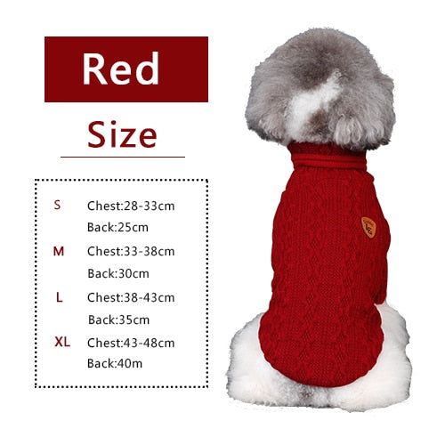 size chart for classic wool sweater