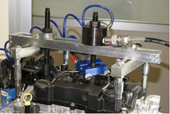 Govoni vibration tool and hydraulic ram for injector removal