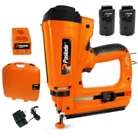 Paslode IM250S Impulse 16/14Ga 250S Bradder Finish Nailer Combo Kit