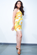 Load image into Gallery viewer, 60's Flower Sun Dress