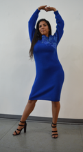 Load image into Gallery viewer, Blue Dream Sweater Dress