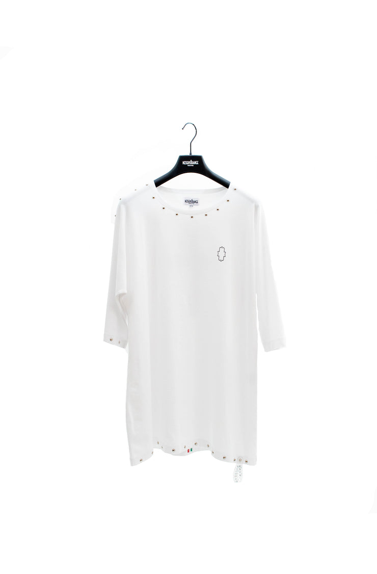 White Logo Dress Crew