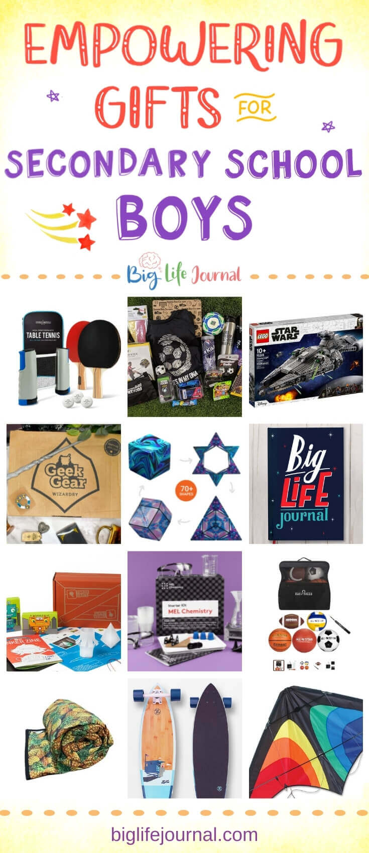15 Gifts for Secondary School Boys