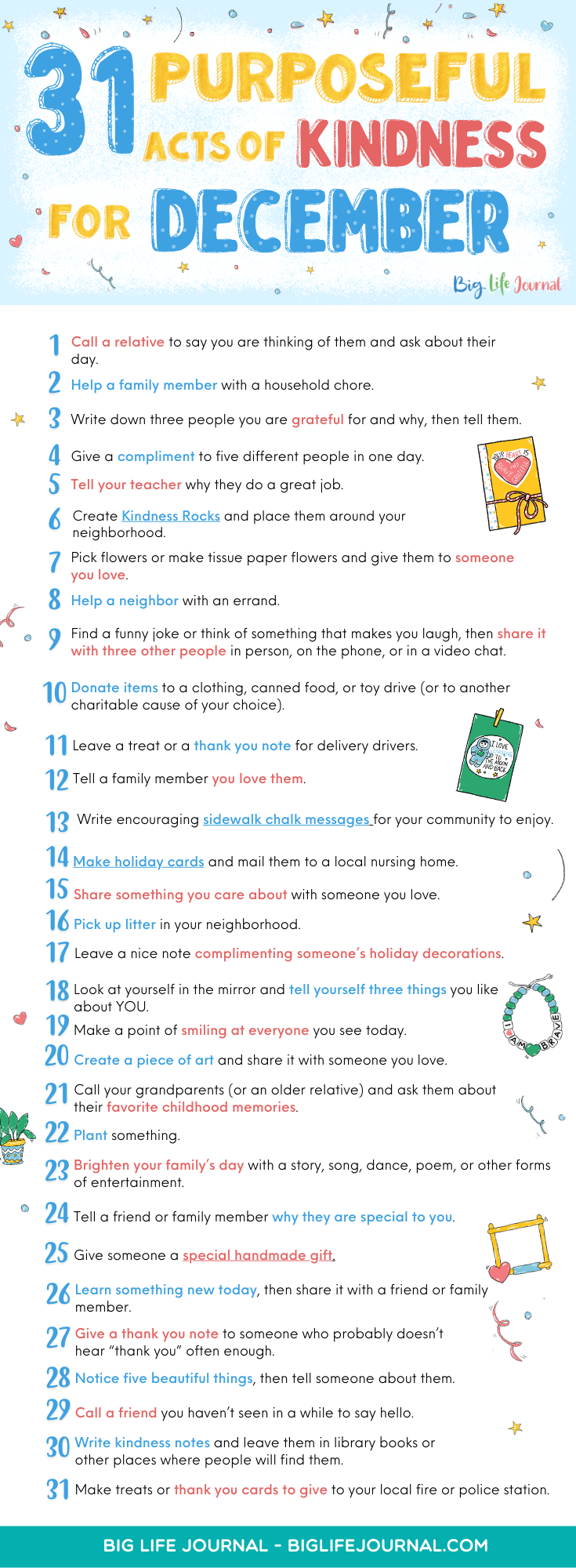 31 Purposeful Acts of Kindness for December