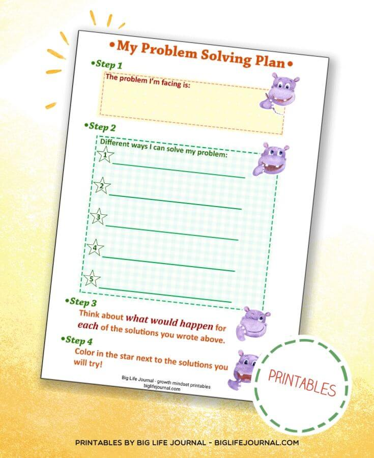 Problem Solving Activities for Kids - Confidence & Self Esteem Kit