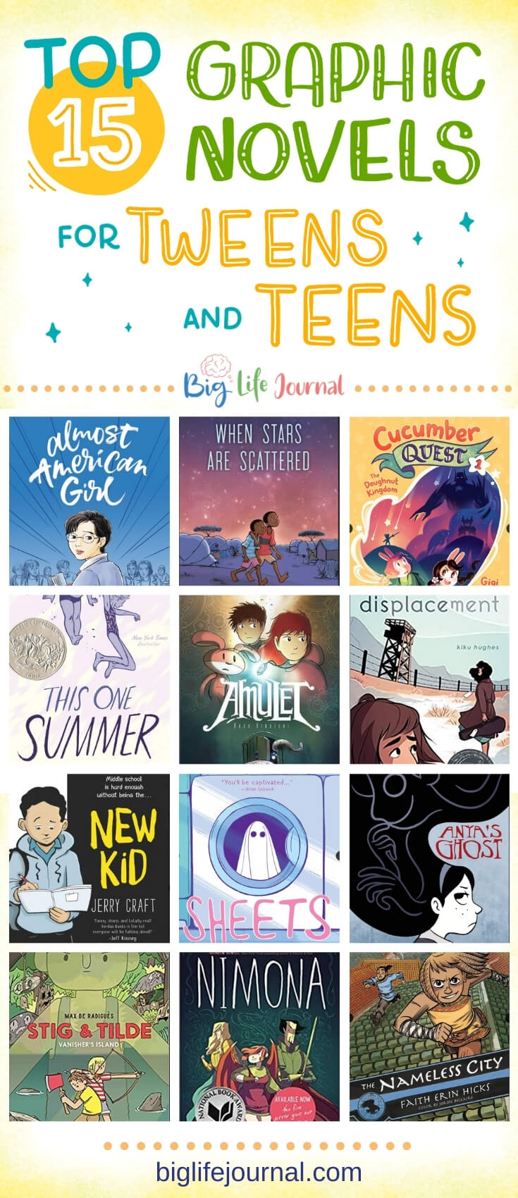 Top 15 Graphic Novels for Tweens and Teens