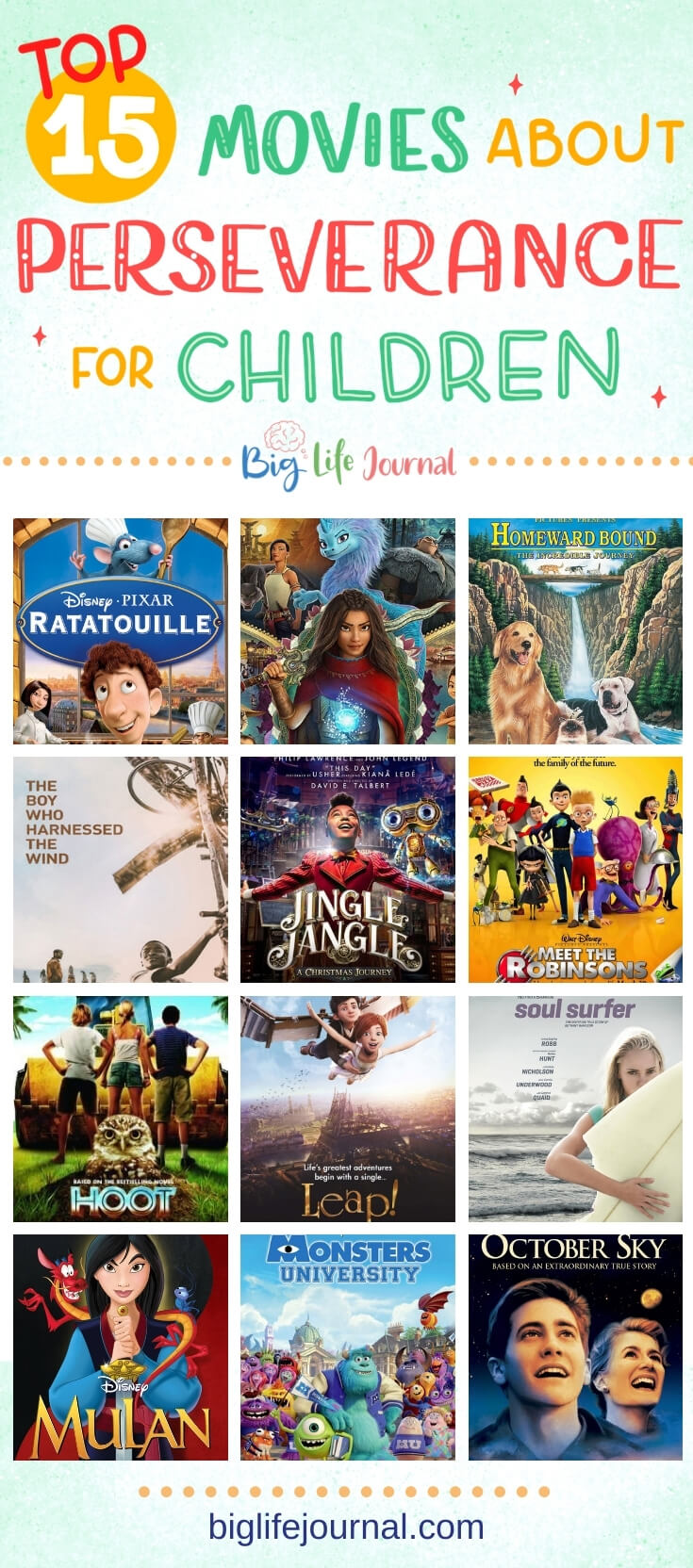 Top 15 Movies About Perseverance for Children