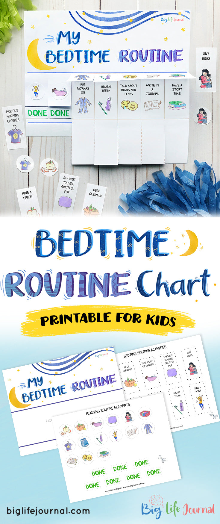 My Bedtime Routine printable for kids