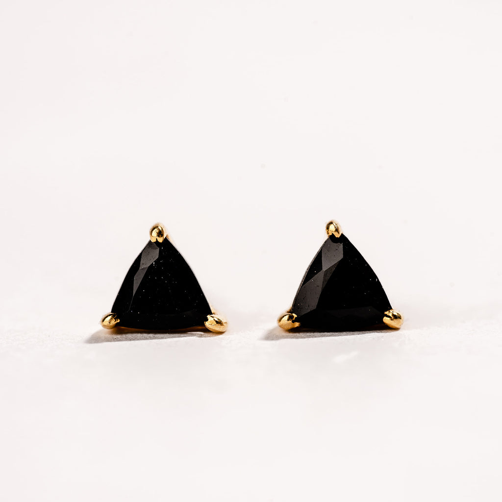 Black Onyx Dainty Triangle
