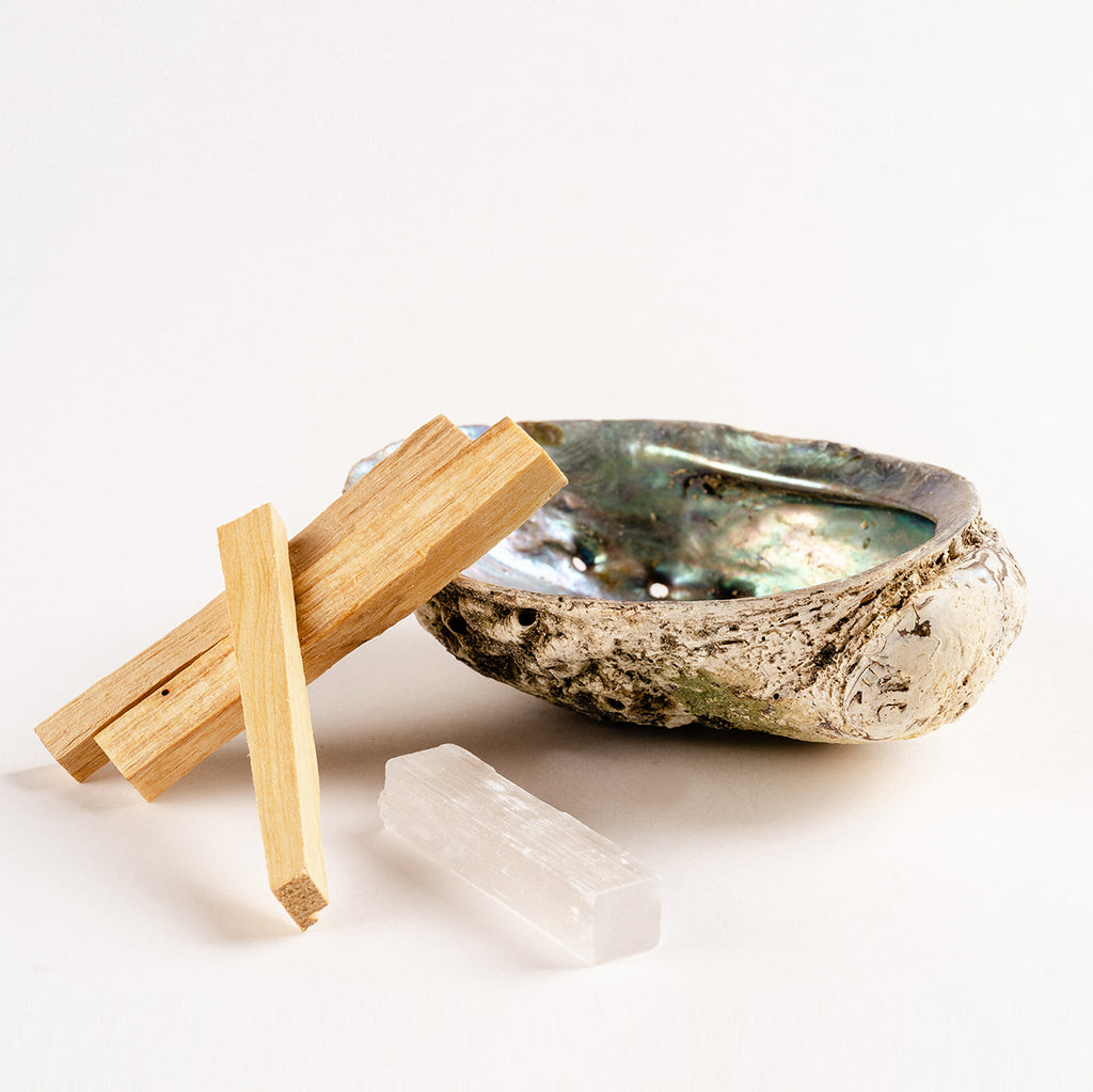 Abalone Shell and Palo Santo Set