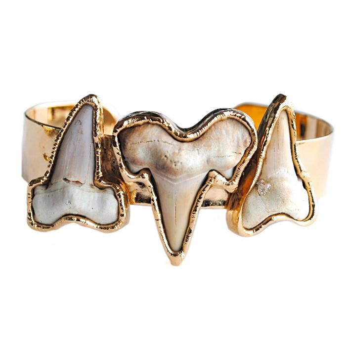 Fossilized Sharktooth Cuff