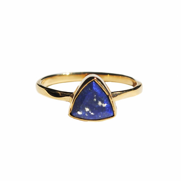 Blue Lapis Triangle Ring