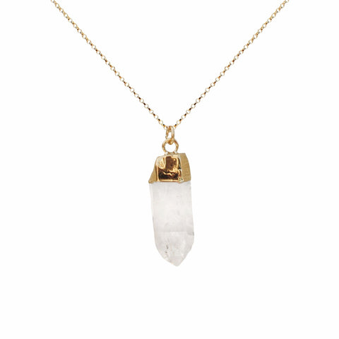 Crystal Clear Quartz Point Necklace