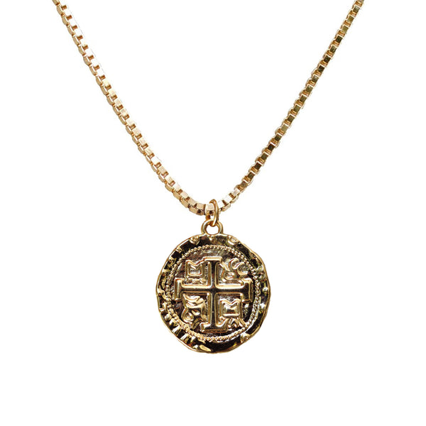 Vintage Heaven Knows Coin Necklace