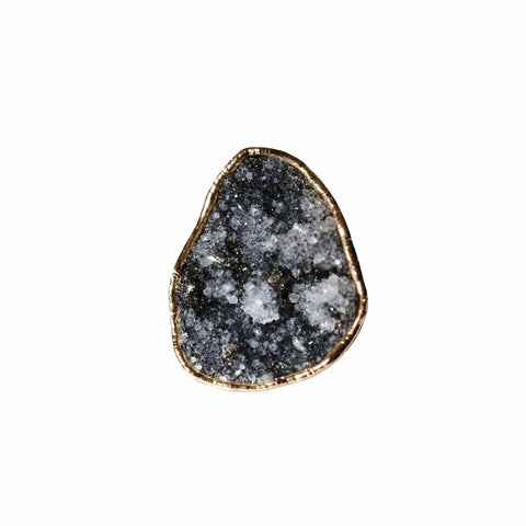 Black Drusy Ring