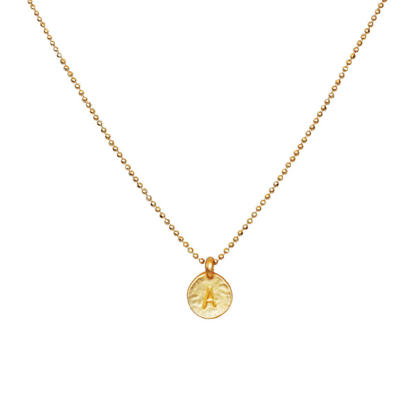 Gold 'A' Initial Necklace