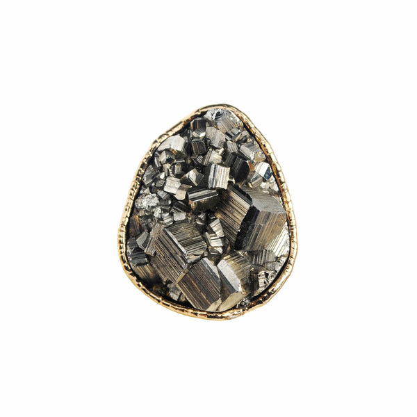 Golden Pyrite Nugget Ring 04
