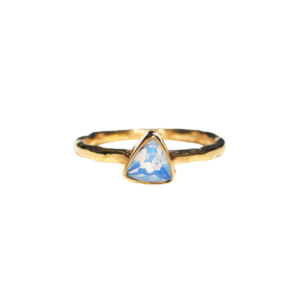 Opalite Triangle Dainty Rings