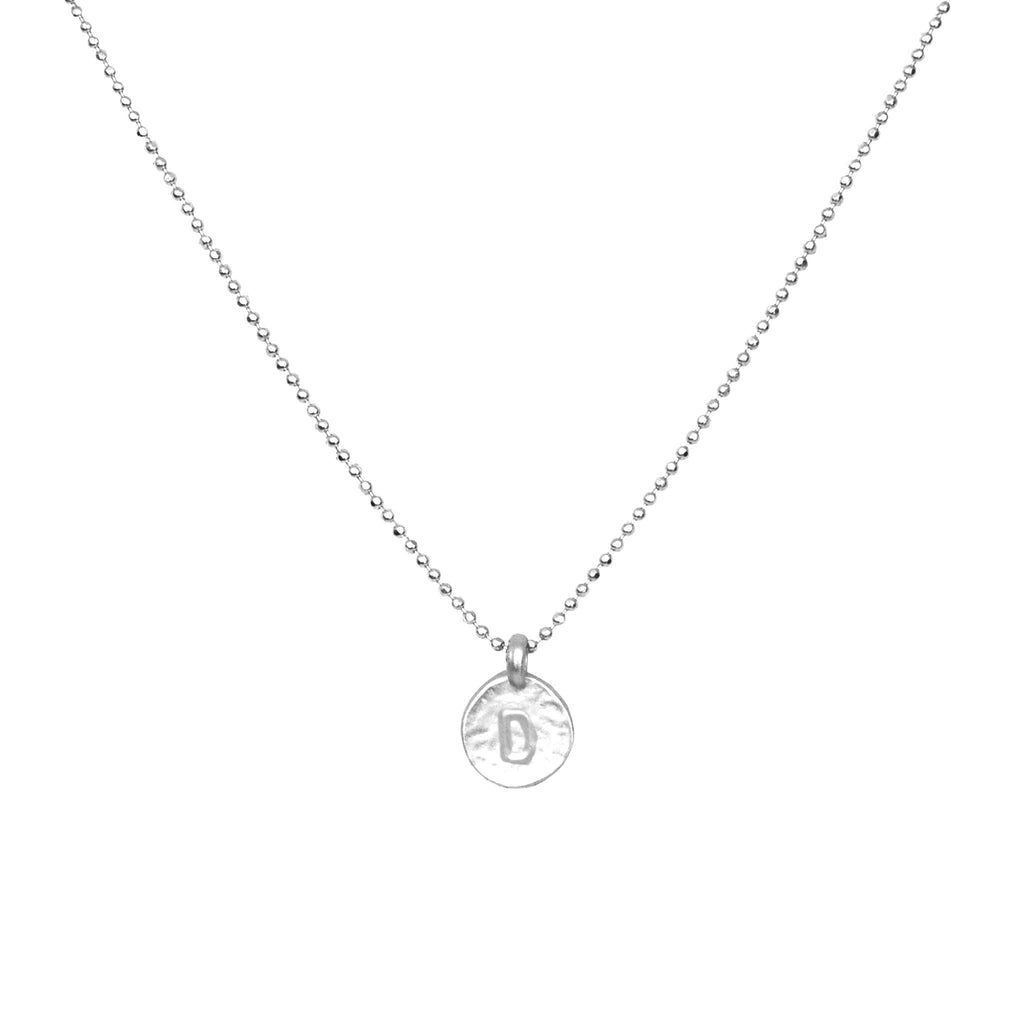 Silver 'D' Initial Necklace