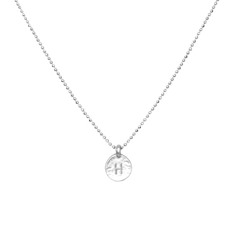Silver 'H' Initial Necklace