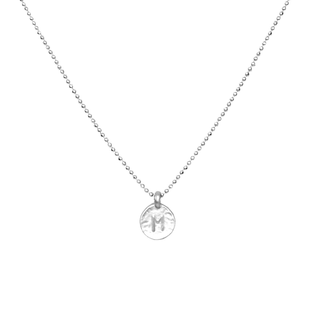 Silver 'M' Initial Necklace
