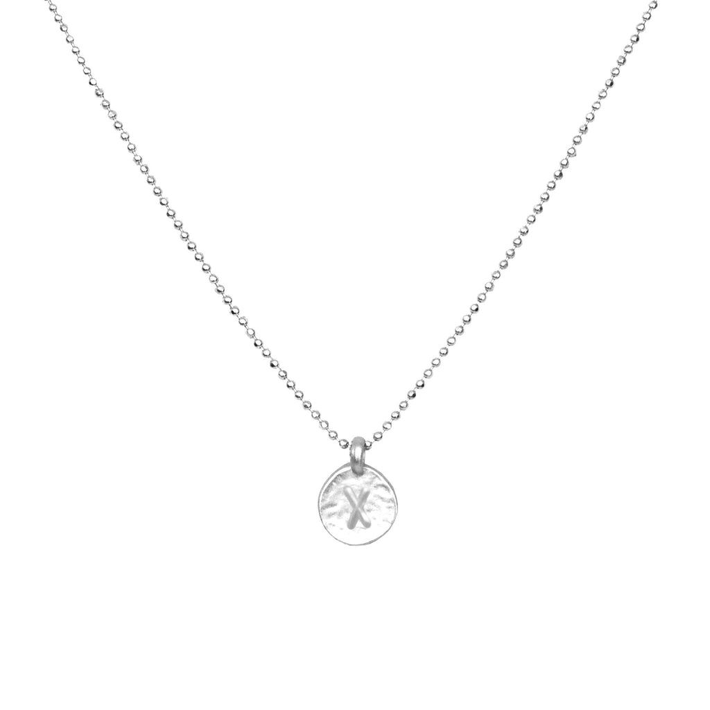 Silver 'X' Initial Necklace