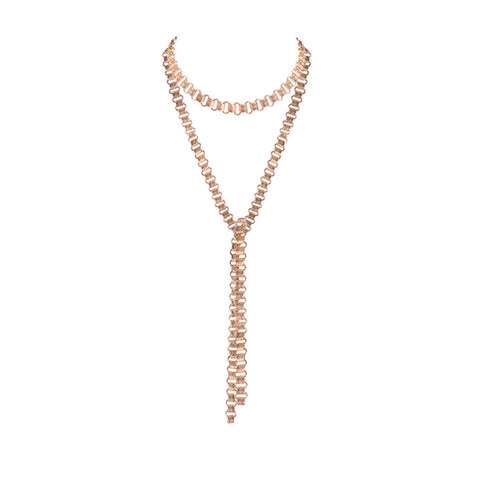 The Dehlia Wrap Choker - Rose Gold
