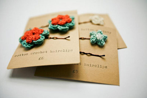 Crocheted Hairclips