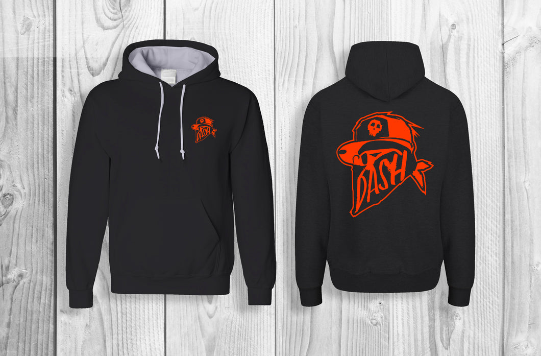 DASH official pullover hoodie Black & Orange