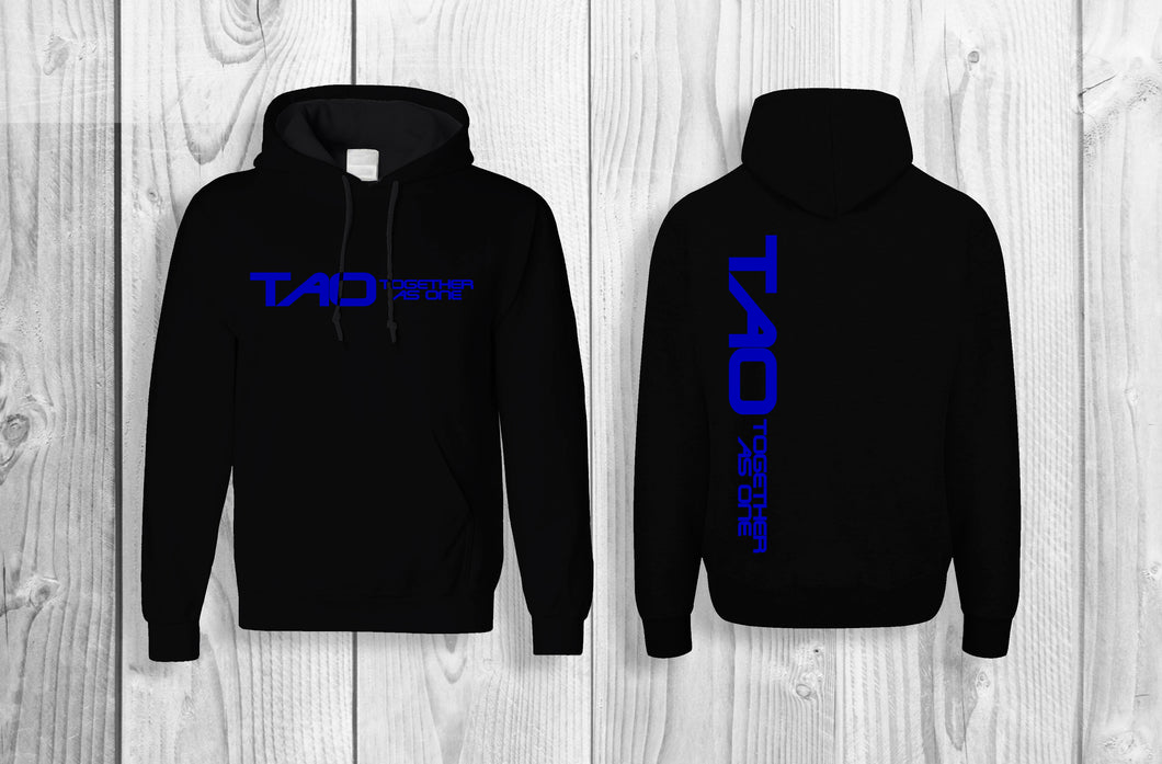 TAO - Together As One official pullover hoodie Black & Brilliant Blue