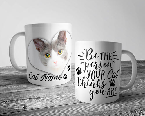 Upload Your Image - Be the person your Cat.... Cat Mug (Personalised)