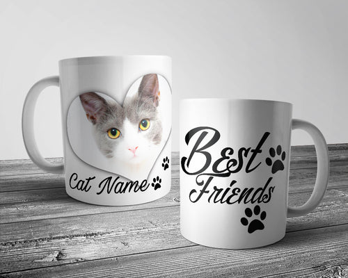 Upload Your Image - Best Friends Cat Mug (Personalised)