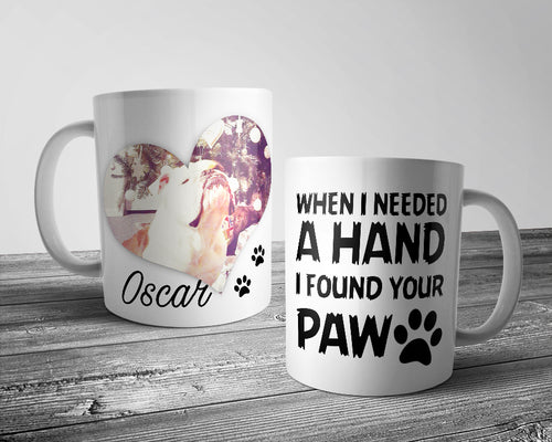 Upload Your Image - When i needed a hand .... Dog Mug (Personalised)