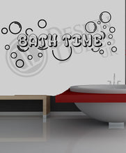 Load image into Gallery viewer, Bath Time -  Bathroom Vinyl wall art