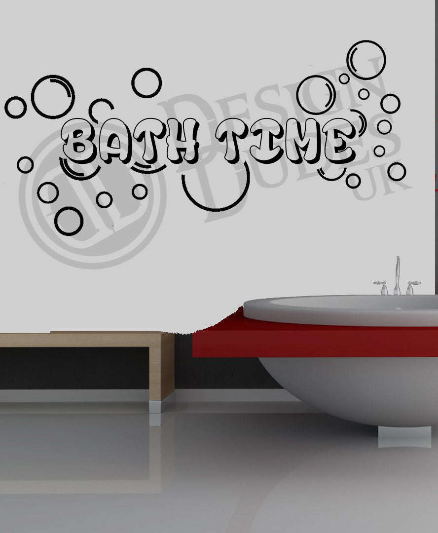 Bath Time -  Bathroom Vinyl wall art