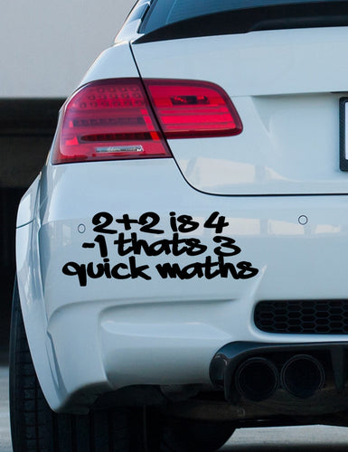 Big Shaq '2+2' bumper sticker