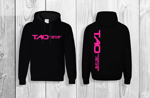 TAO - Together As One official pullover hoodie Black & Pink