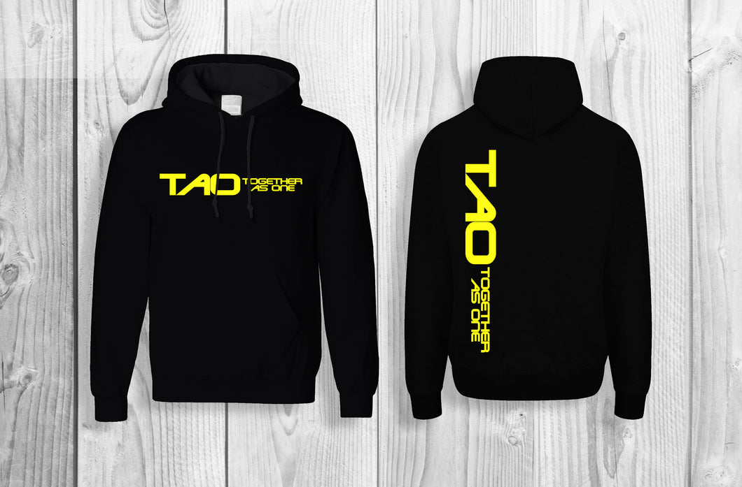 TAO - Together As One official pullover hoodie Black & Yellow