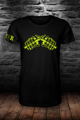 MVR official t shirt Black & Neon yellow
