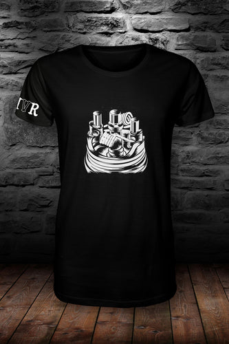 MVR Coil t shirt Black & white