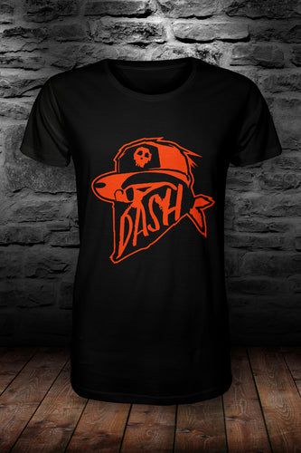 DASH official t shirt Black & Orange